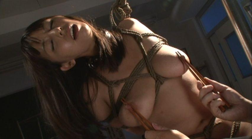 拘束されてポンプ吸引で巨大にされた乳首をいたぶられる美少女2