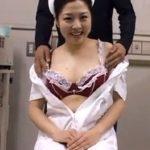 新人看護婦に乳揉みインタビュー。オナネタを想像し涎垂らして乳首イキ